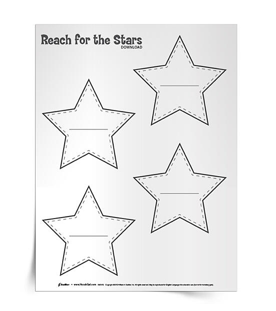 Reach for the Stars download aims to excite students about the joys of language and the fun they can have with words! This simple reward system will have students sharing vocabulary discoveries and making the most out of reading/TV viewing. Make your classroom ceiling sparkle and download the Reach for the Stars editable PDF!