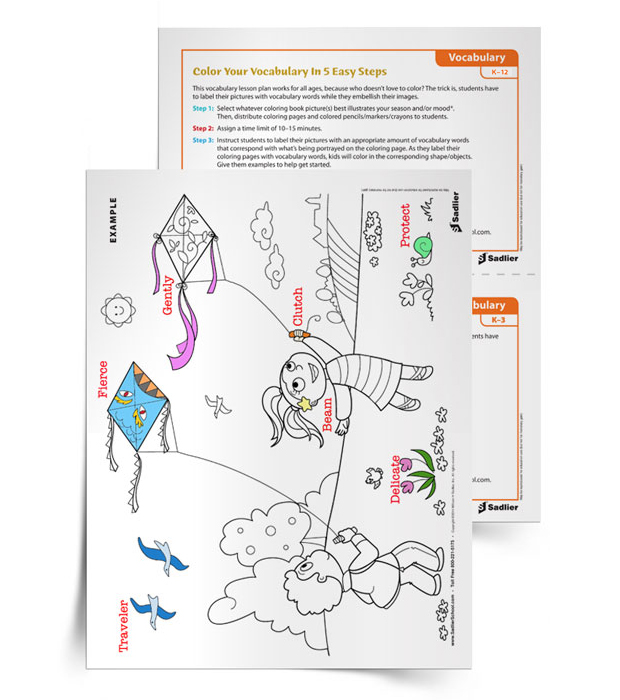 With this summer vocabulary worksheet, students will color and label the drawings with vocabulary words and phrases to build visual meaning.