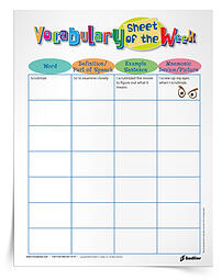 Worksheets 4th Grade Vocabulary Worksheets 4th grade vocabulary worksheets printables and resources 07mno 14 vg vocab sheet of the week thumb 350px
