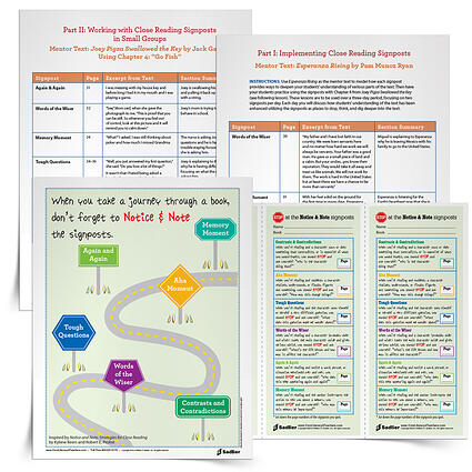 In this article, I'm sharing resources for introducing or reviewing the Notice & Note signposts in the classroom. If you're looking for posters, student bookmarks, and whole-class and small groups lessons...I have you covered!