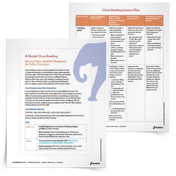 Close_Reading_Lesson_Plan_Faithful_Elephants_thumb_350px