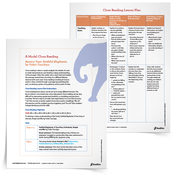 Close_Reading_Lesson_Plan_Faithful_Elephants_thumb_350px