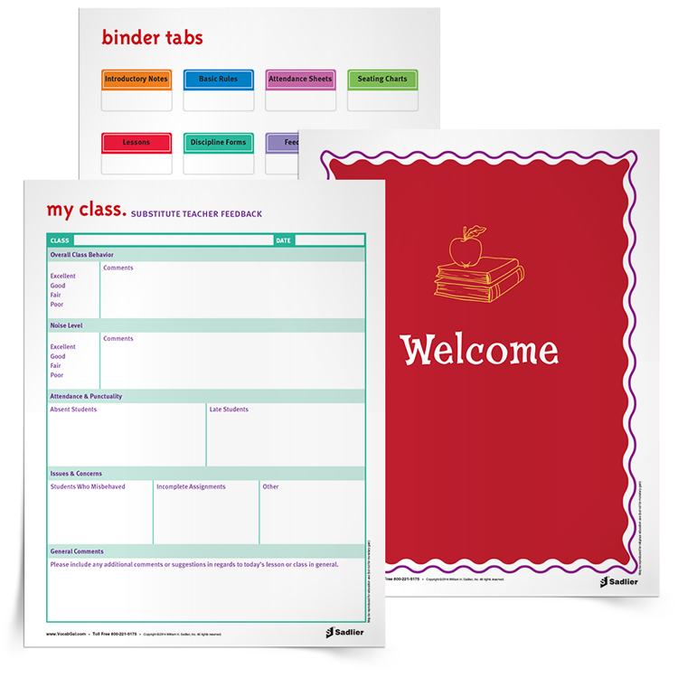 One of the hardest things a teacher has to do is plan for a substitute. Likewise, one of the hardest jobs a person can have is to be a substitute teacher. To make the experience as positive as possible, have a substitute teacher binder ready for those unexpected sick days!