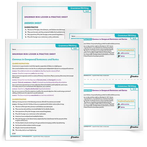Printables Middle School Grammar Worksheets 25 printable grammar worksheets that will improve students writing commas gr 6 8