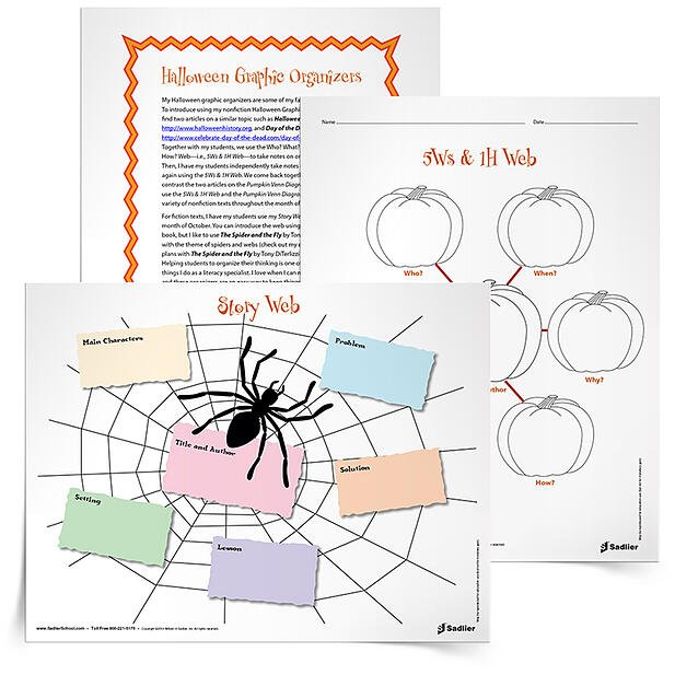 Halloween Reading Comprehension Worksheets and Graphic Organizers – Halloween Reading Worksheets