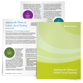Applying the Themes of Catholic Social Teaching