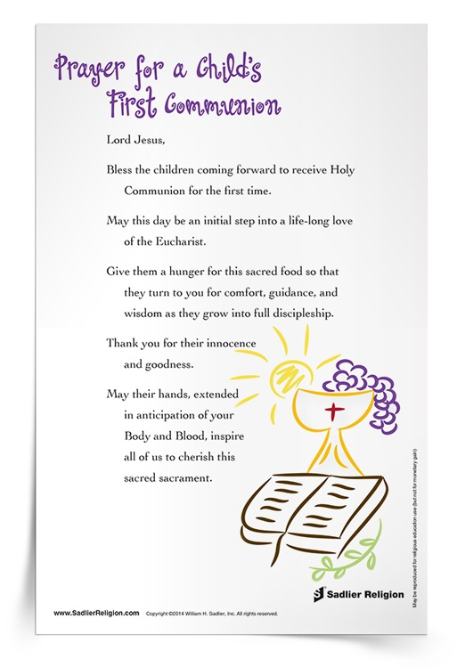 Prayer for a Child's First Communion