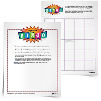 3rd grade vocabulary games teachers can use in the classroom to help students review words.