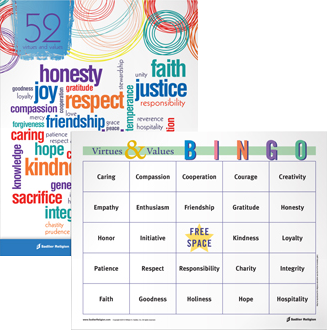 Virtues Value Bingo Game