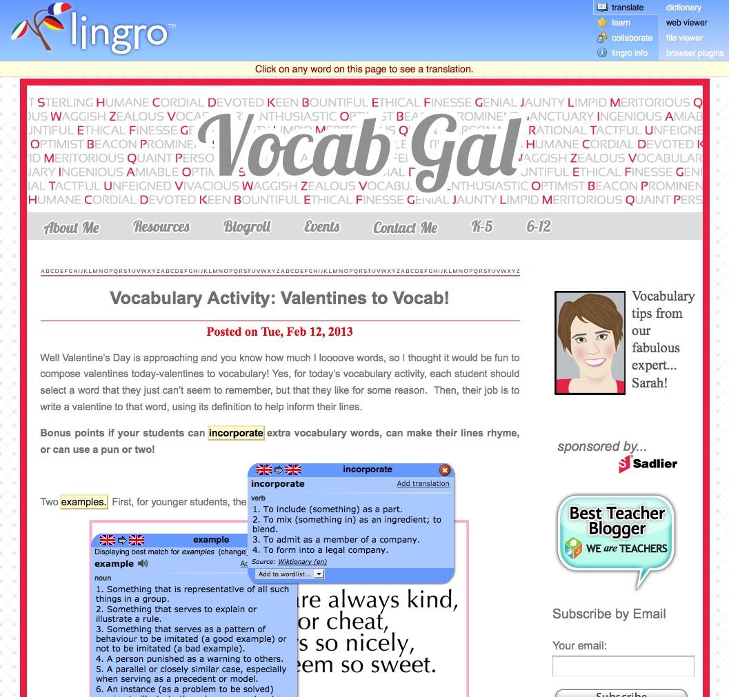 Lingro-Vocabulary-Development