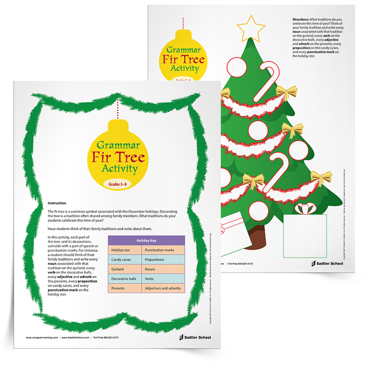 Writing about holidays in December may not be an original concept, but it is fun for students! With the Grammar Fir Tree Writing Activity students will write about traditions while focusing on key grammar elements.