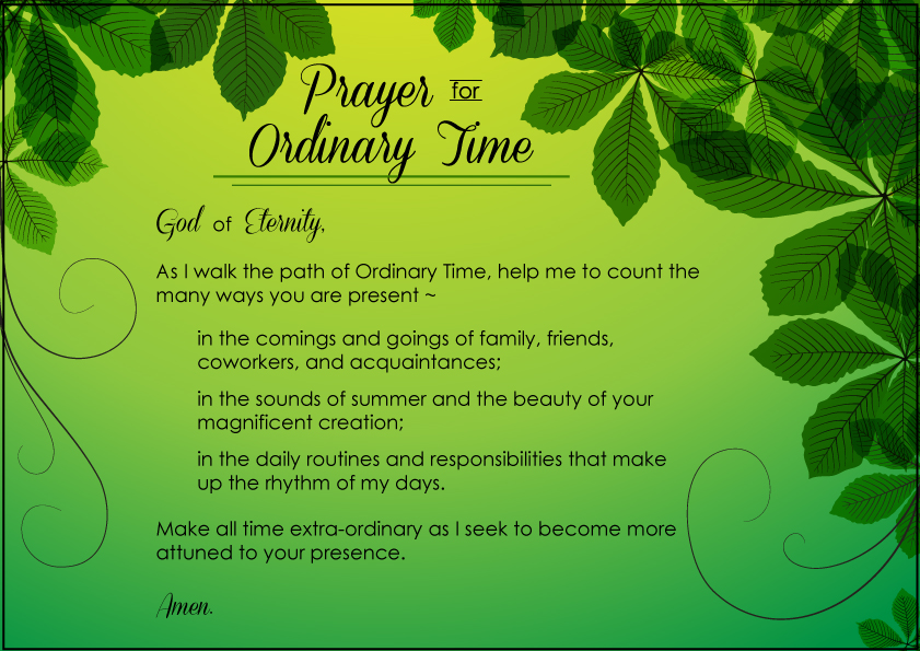 Prayer for Ordinary Time