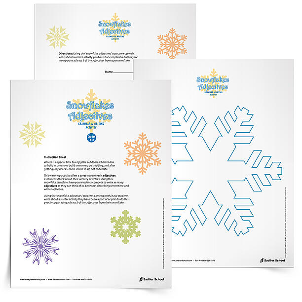 snowflake-adjectives-activity