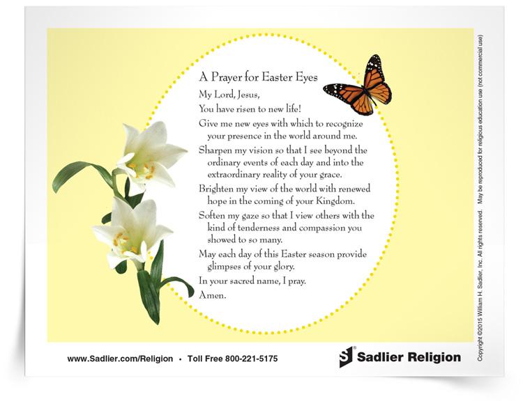 Prayer for Easter Eyes