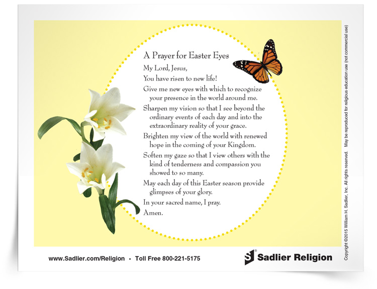 12 easter resources to use with catholic children liturgical year prayer for easter eyes negle Choice Image