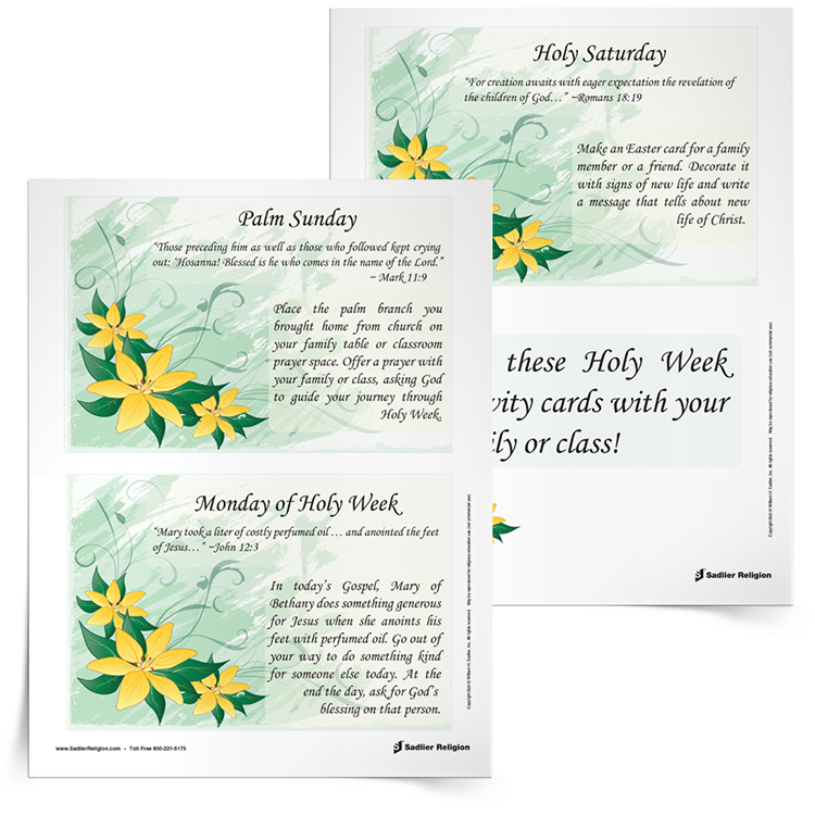 Holy Week Reflection Cards