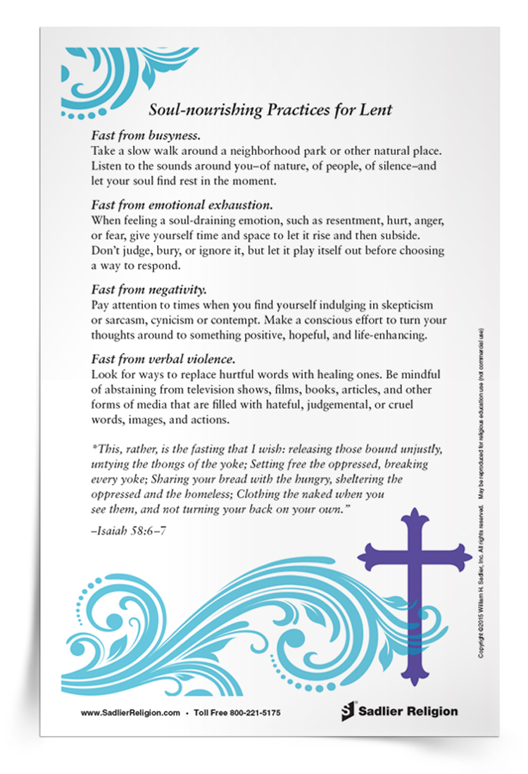 Lenten Worksheets For Middle School - The Best and Most ...