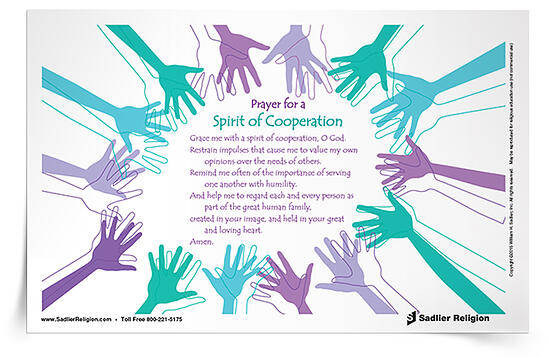 My Cooperation Prayer can be used multiple times throughout the school year to remind students to consider the needs of others.