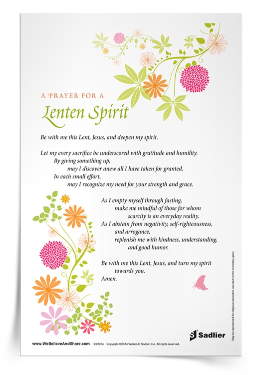 Prayer for a Lenten Spirit