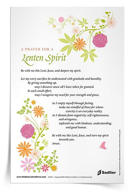 Lent Resources 2021 Prayer for Lenten Spirit