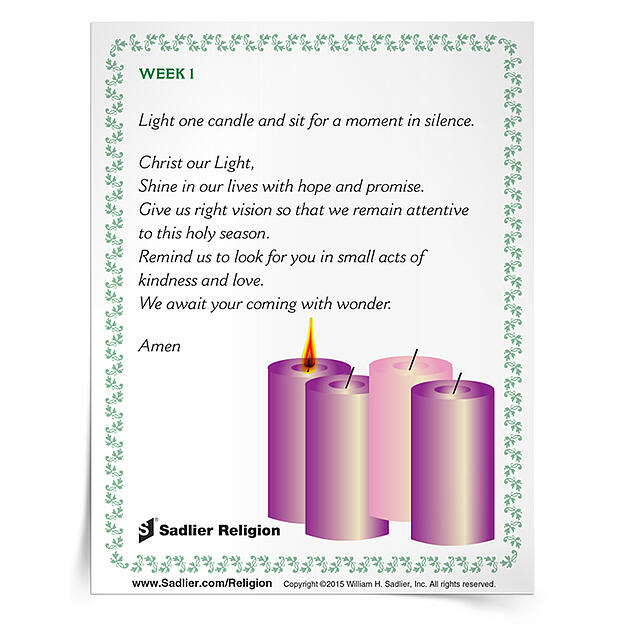 advent prayers for families. Black Bedroom Furniture Sets. Home Design Ideas
