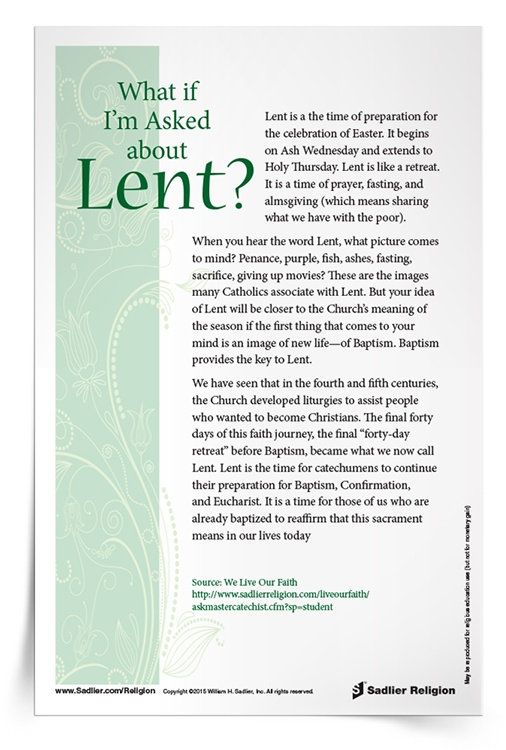 What If I'm Asked About Lent?