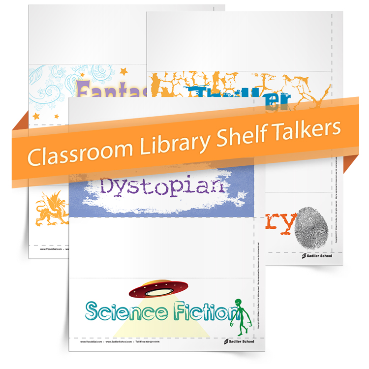 As we set up all aspects of our classroom, the most important back-to-school resource for my classroom library is the Library Genre Shelf Talkers printable. These helpful signs can be printed on cardstock, folded, and then attached to bookshelves to clearly indicate each shelf's genre.