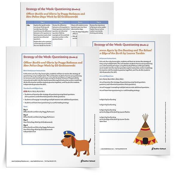 5 Free Reading Comprehension Lesson Plans -Use a four-day lesson plan to help students in Grades 3 and 4 learn or review the strategy of questioning using multiple texts.