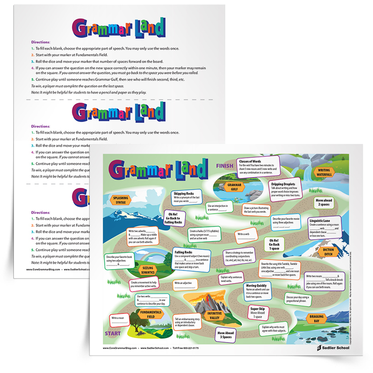 Treat Your Students with the Grammar Land Game Board, Grades 3–12