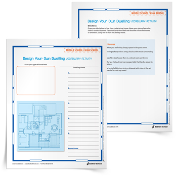 Vocabulary-Building Worksheets That Combine Creative Graphics ...