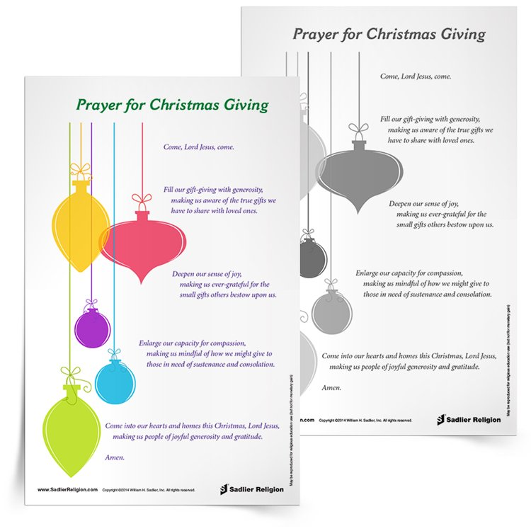 image regarding Prayer Printable identify 8 Printable Catholic Xmas Prayers