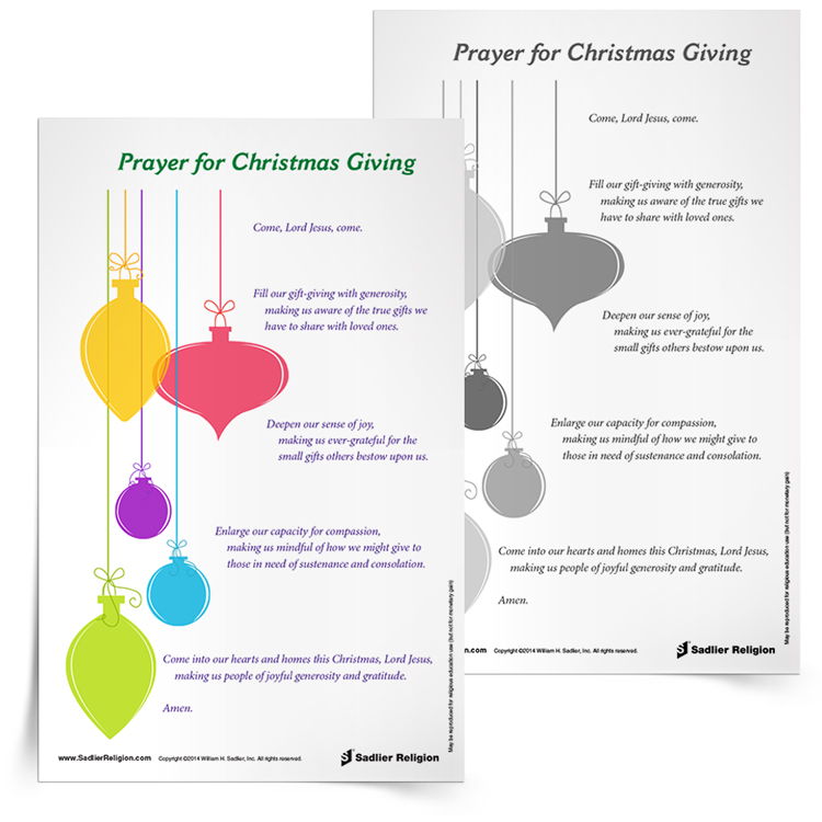 image relating to Printable Catholic Prayers named 8 Printable Catholic Xmas Prayers