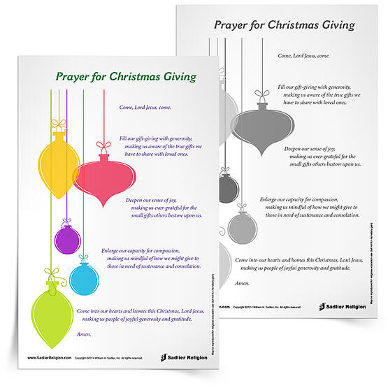 Gift of Giving Prayer Card