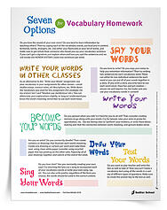 7 Options for Vocabulary Homework