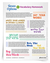 The following 6th grade vocabulary worksheets are additional resources that support word learning. From reward systems to vocabulary homework options, these printables are a must have!