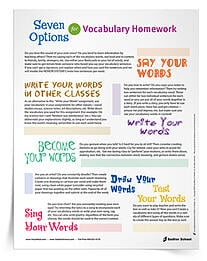 The following 3rd grade vocabulary worksheets are additional resources that can help in word learning. From reward systems to vocabulary homework options, these printables are a must have!