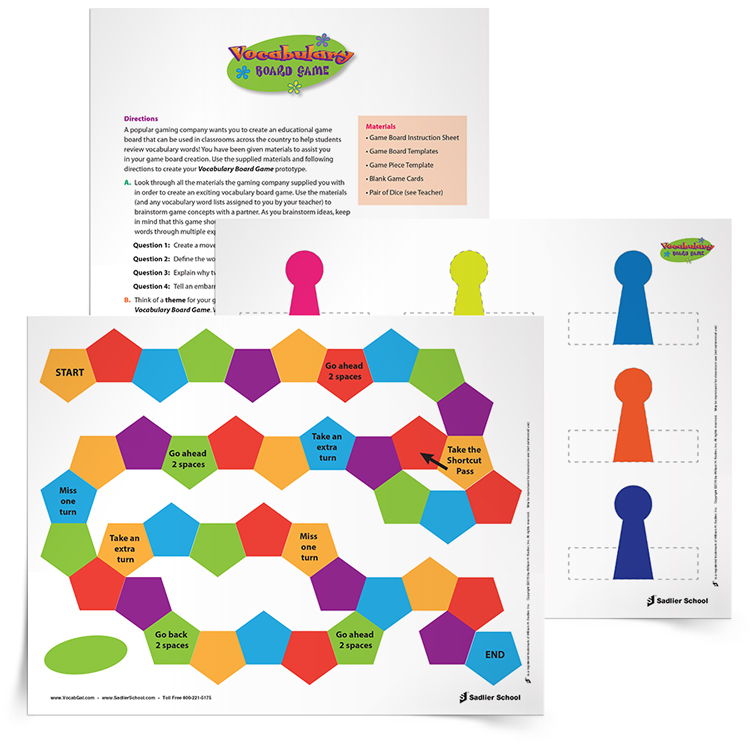 How to Create Student Vocabulary Game Boards to Review Words, Grades ...