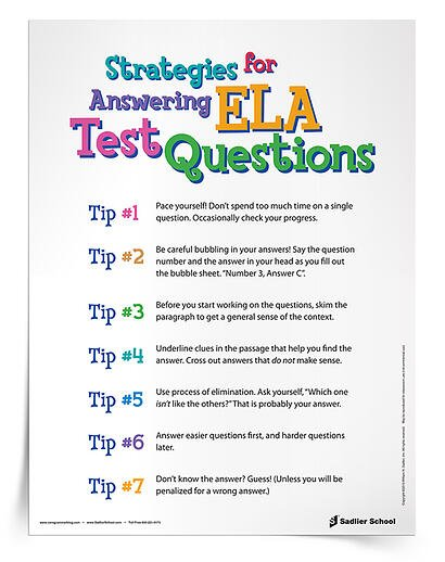 We know the mistakes that students make when they take tests. We've watched them reread the entire passage to answer one small question, or spend 30 minutes on the first question, leaving them 15 minutes for the rest of the test. Address those concerns and others with these 7 Strategies for Answering ELA Test Questions.
