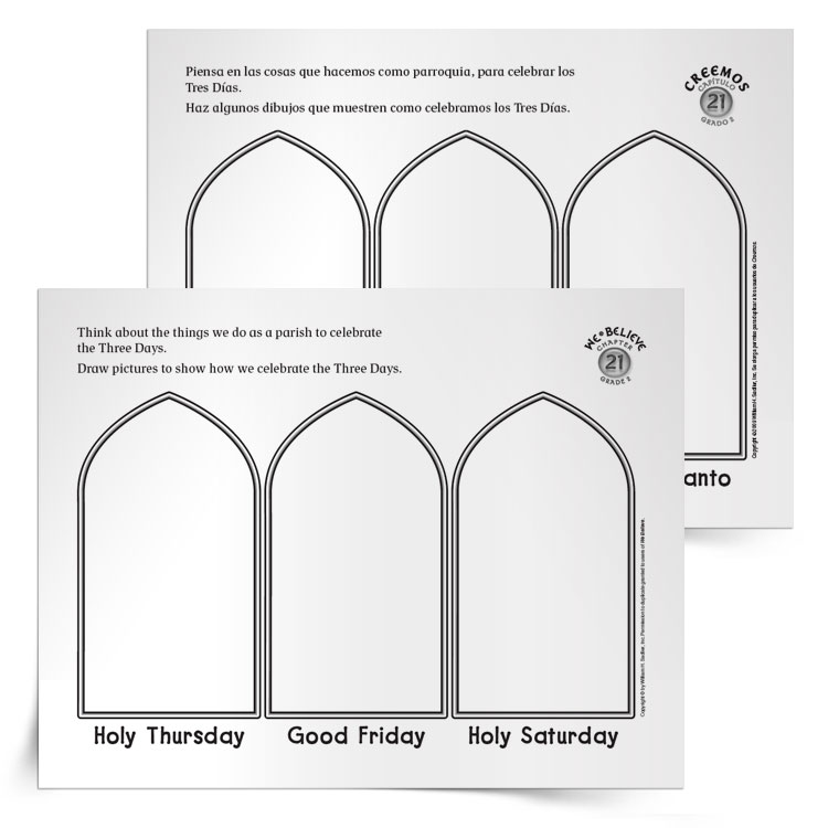 picture relating to Holy Week Activities Printable named Train Small children more than the Easter Triduum