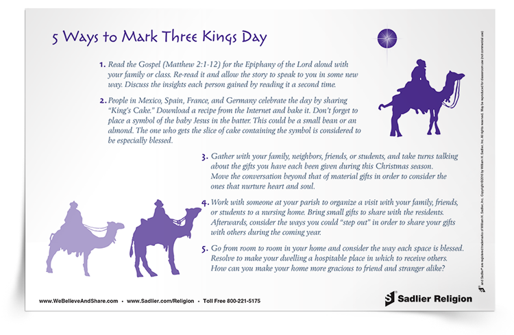 Download my list of 5 Ways to Mark Three Kings Day and use it to spark ideas for celebrating the Epiphany.
