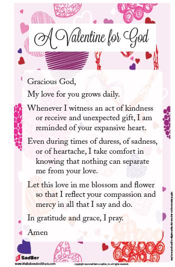 a valentine for god - Valentine Prayer