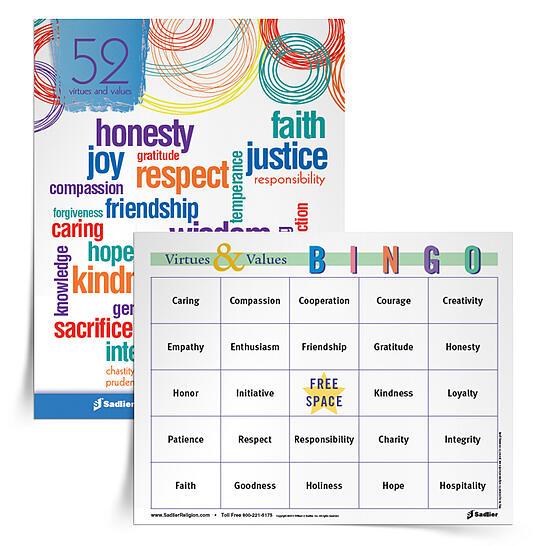 Virtues-Values-Bingo