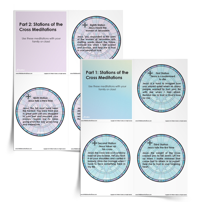 This is an image of Stations of the Cross for Youth Printable within cross episcopal