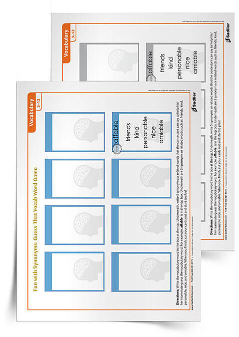 Another classic game, students have to get their teammates to guess which vocabulary is being described, even though they can't use any of a list of most popular 'banned' words that connect with the vocabulary word. Just making the cards alone is an excellent activity and the game is just an extra bonus.