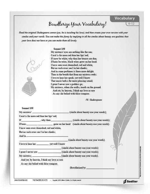 Poetry-Vocabulary-Activity