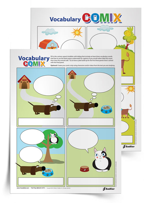 """Students and teachers alike love comics, and having students design and/or customize a comic that can share some key concepts in a """"punny"""" way is an awesome opportunity for students to reflect on what they've learned and remind others who read their comic about vocabulary and other class topics."""