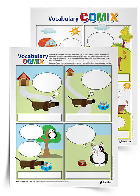 "Students and teachers alike love comics, and having students design and/or customize a comic that can share some key concepts in a ""punny"" way is an awesome opportunity for students to reflect on what they've learned and remind others who read their comic about vocabulary and other class topics."