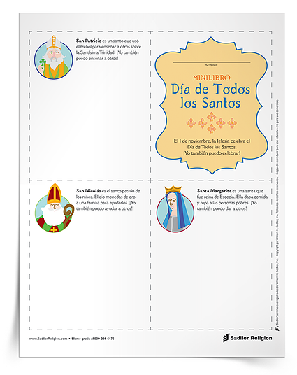 Minilibro del Día de Todos los Santos para niños
