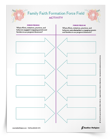 Download a free Family Faith Formation Force Field Activity.