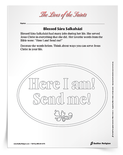 Printable Activities to Celebrate Holy People & Saint Feast Days in September